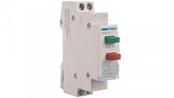 Przełącznik przyciskowy podwójny 16A 1Z 1R zielono-czerwony SVN391