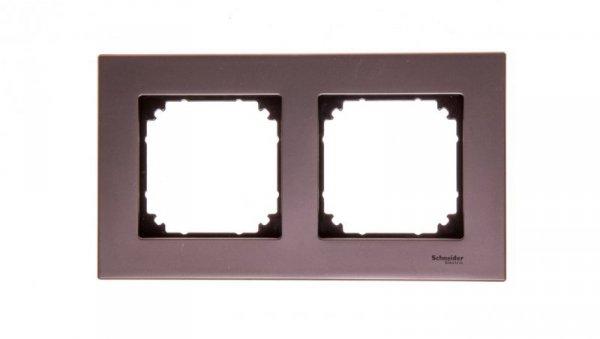 Merten M-Elegance Ramka podwójna metalowa szara MTN403214