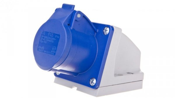 Gniazdo stałe 16A 3P 230V niebieskie IP44 /mała obudowa/ 113-6K