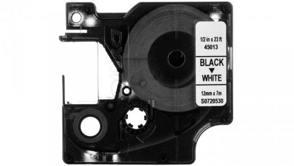Taśma do drukarek D1 12mm x 7m czarny/biały S0720530