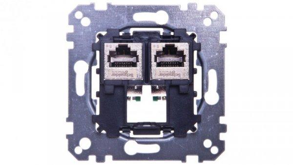 Merten Gniazdo komputerowe podwójne RJ45 kat.5e F/STP MTN4575-0012