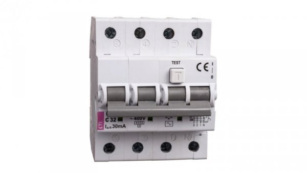 Wyłącznik różnicowo-nadprądowy 4P 32A C 0,03A typ AC KZS-4M 002174027