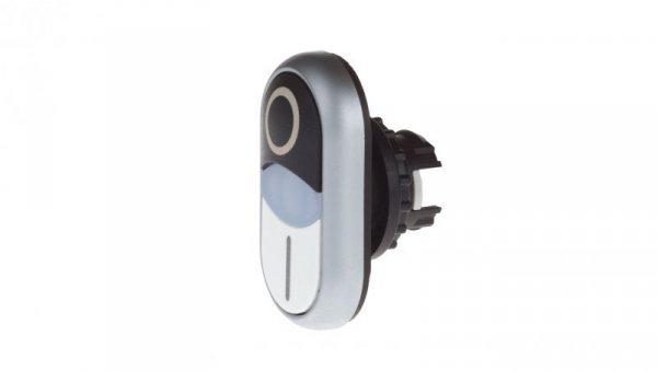 Napęd przycisku podwójny biało/czarmy /0-I/ z podświetleniem z samopowrotem M22-DDLM-WS-X1/X0 284832