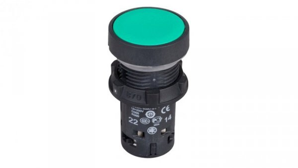 Przycisk sterowniczy 22mm zielony z samopowrotem 1Z 1R XB7NA35