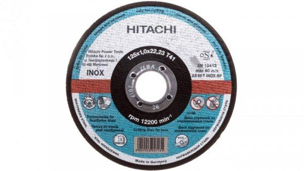 Tarcza tnąca Hitachi INOX A60T 125 x 1 x 22,2 mm 1121240