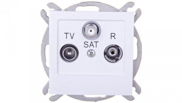 AS Gniazdo antenowe RTV-SAT przelotowe białe GPA-GSP/m/00