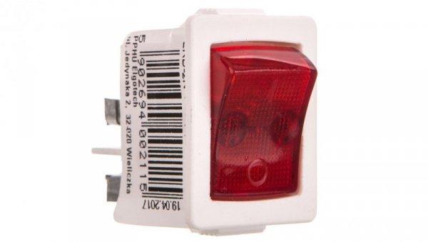 Łącznik kołyskowy z podświetleniem /zaciski śrubowe/ biały ŁKD-2N-1