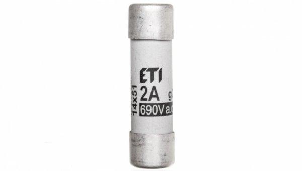 Wkładka bezpiecznikowa cylindryczna 14x51mm 2A gG 690V CH14 002630001