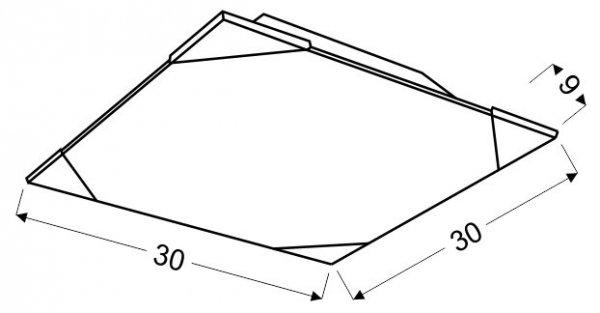 CEDRA PLAFON 30X30 2X60W E27