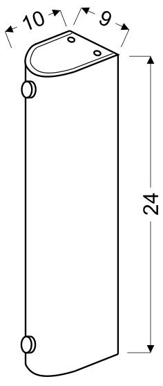 ABREGO PLAFON 24/10 1X60W E27