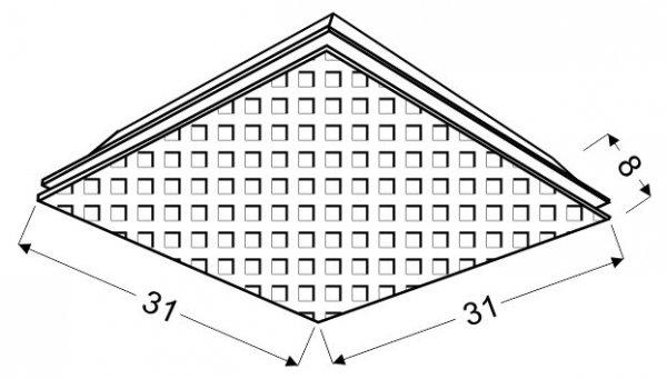 MOSAIC PLAFON 31X31 2X60W E27