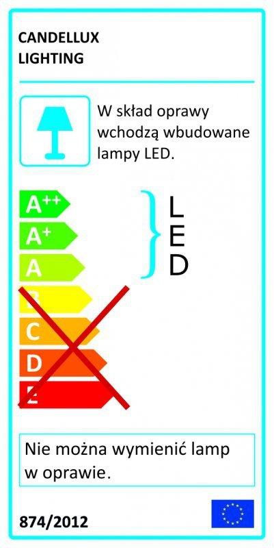 FIERA PLAFON 40X40 1X18W LED KWADRAT