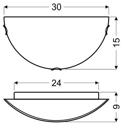 LANA PLAFON 0,5 1X60W E27