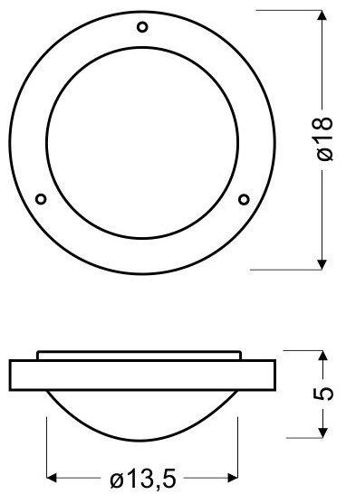 AQUILA PLAFON 18 1X40W G9 PATYNA IP44 (BŻ)