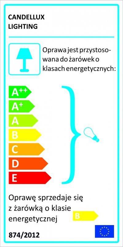 VATAN PLAFON 30 1X11W E27 PLASTIK ENERGO (W KOMPLECIE) SZARA