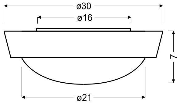 VATAN PLAFON 30 1X11W E27 PLASTIK ENERGO (W KOMPLECIE) BIAŁA
