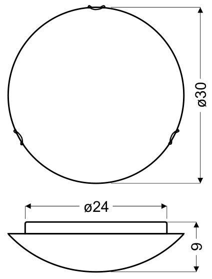 GALEO PLAFON 30 1X60W E27