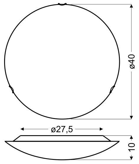 PRISTINA PLAFON 40 1X16W LED 6500K