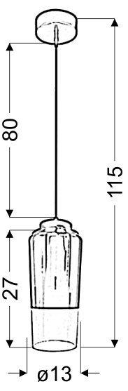 TUBE ZWIS 13 1X60W E27 MIEDZIANY