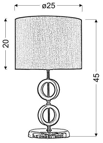 ANELLO LAMPKA GABINETOWA 1X60W E27 H-43 BRĄZOWA