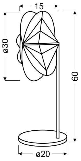 SPIDER LAMPKA 1X40W E14 60 CM CZARNA