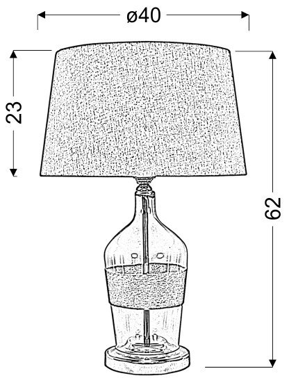 ECO 3 LAMPKA GABINETOWA 40X62 1X60W E27