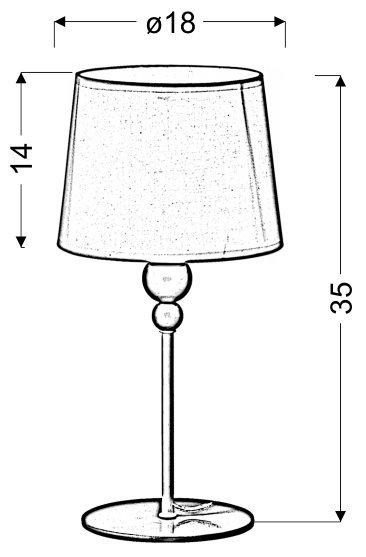BEBE LAMPKA GABINETOWA 1X60 W E27 BIAŁA