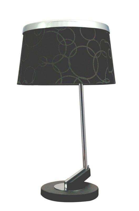 IMPRESJA LAMPKA 1*60W E27 CZARNA CHROM