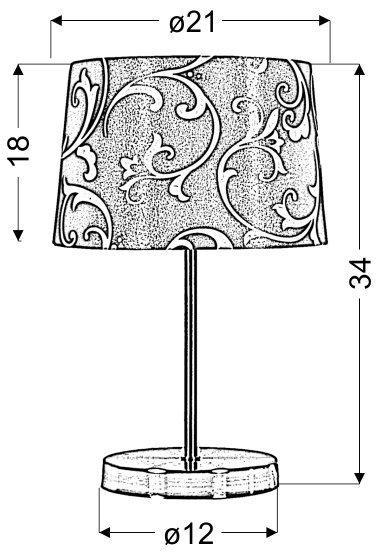 AROSA LAMPKA 1X40W E14 BEŻOWY