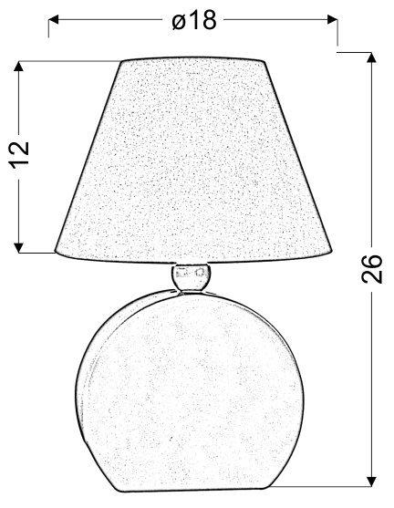 OFELIA LAMPKA GAB. MDF 1X40W E14 NIEBIESKA