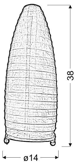 PAPIRUS LAMPKA PAPIEROWA POMARAŃCZOWA 40W E14