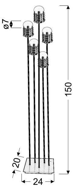 LUXOR LAMPA 5*20W G4 NIKIEL MAT