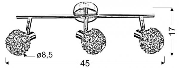 COLLAR LISTWA 3X40W G9 CHROM