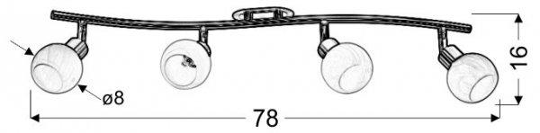 ALABASTER LISTWA 4X40W G9 SATYNA+CHROM