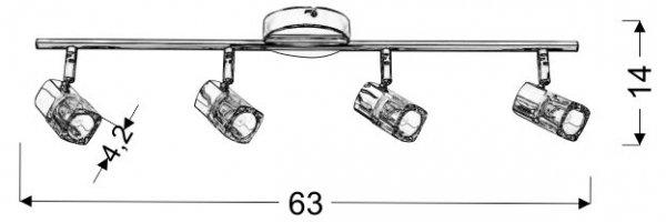 DIAMENT LISTWA 4X40W G9