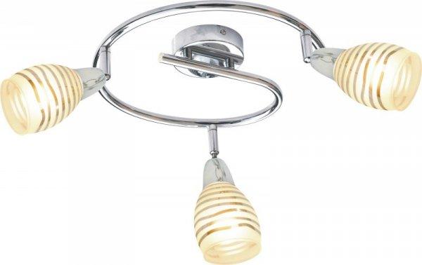 JUBILAT SPIRALA 3X10W E14 LED CHROM