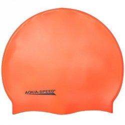 Czepek Aqua-Speed silikon Mega senior pomarańczowy