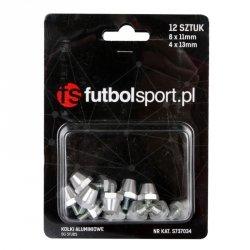 Kołki futbolsport aluminiowe 8x11mm + 4x13mm