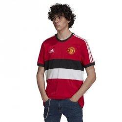 Koszulka adidas Manchester United 3- Stripes Tee GR3895 czerwony M