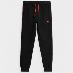 Spodnie 4F HJZ21-JSPMD005 20S czarny 128 cm