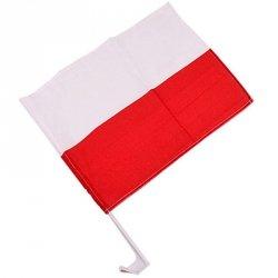 Flaga Polska 30x45 cm samochodowa 30x45
