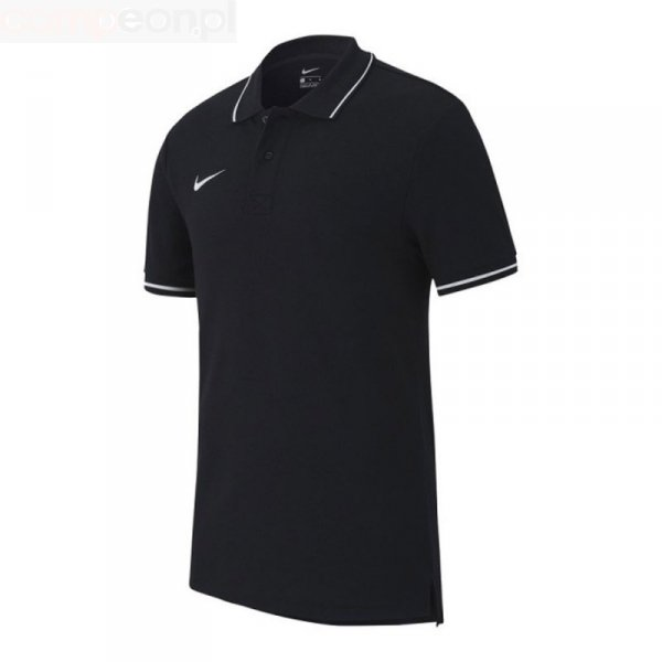 Koszulka Nike Polo Y Team Club 19 AJ1546 010 czarny S (128-137cm)