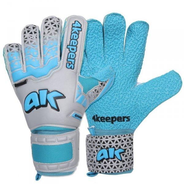 Rękawice 4keepers Champ Astro IV HB Junior + płyn czyszczący niebieski 5