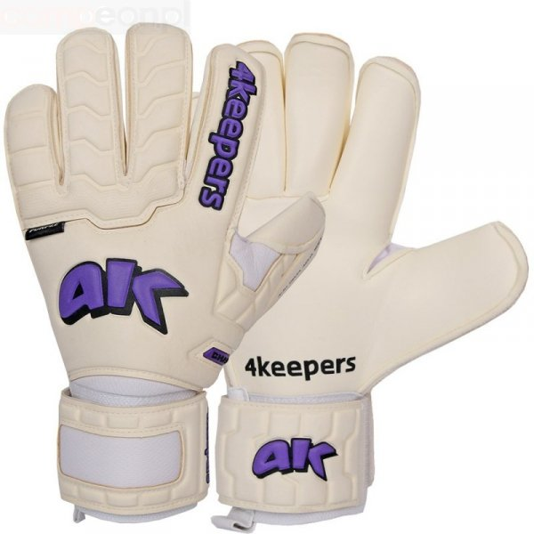 Rękawice 4keepers Champ Purple IV RF + płyn czyszczący biały 10,5