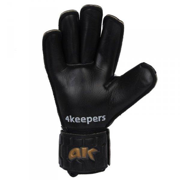 Rękawice 4keepers Champ Black Gold IV RF + płyn czyszczący czarny 9