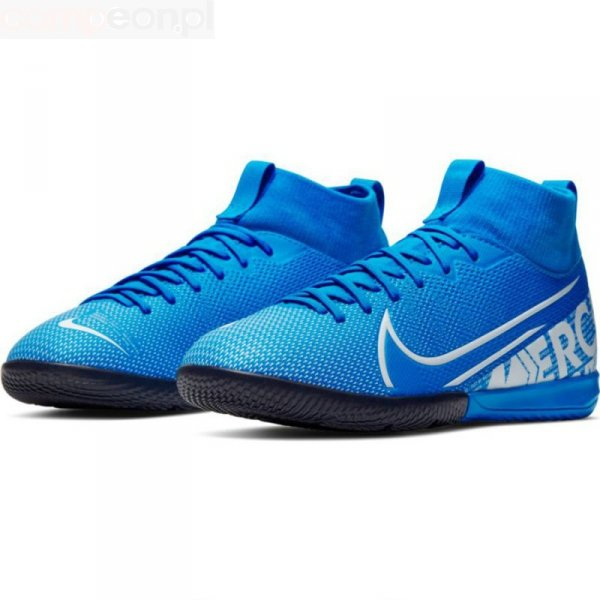 Buty Nike JR Mercurial Superfly 7 Academy IC AT8135 414 niebieski 32
