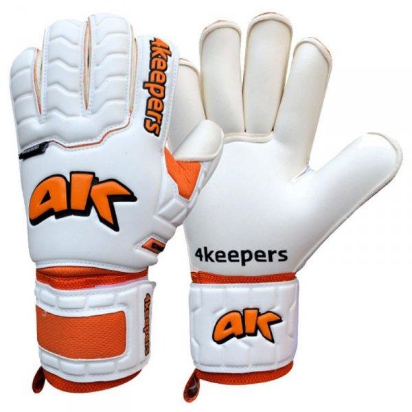 Rękawice 4keepers Champ Training IV Roll Finger Junior + płyn  S622453 biały 4