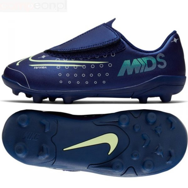 Buty Nike JNR Mercurial Vapor 13 Club MDS MG PS (V) CJ1149 401 niebieski 25 1/2