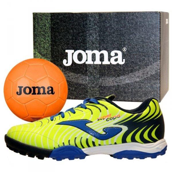Buty Joma Super Copa JR 2011 TF SCJS.2011.TF + Piłka Gratis żółty 33