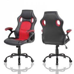 Obrotowy fotel gamingowy kubełkowy ModernHome